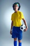 Brazil soccer man Royalty Free Stock Images