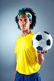Brazil soccer man Royalty Free Stock Image