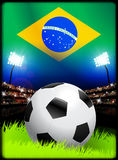 Brazil Soccer Match in Stadium Royalty Free Stock Photography
