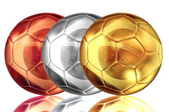 Brazil soccer metal ball Stock Photography