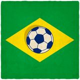 Brazil soccer old background. Vector illustration. eps 10 Royalty Free Stock Photo
