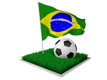 Brazil soccer Royalty Free Stock Images