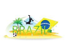 Brazil Soccer Royalty Free Stock Photography
