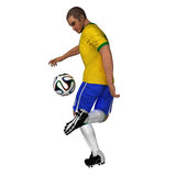Brazil - Soccer Player Royalty Free Stock Photos