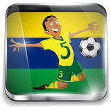 Brazil Soccer Player with Uniform. Vector - Brazil Soccer Player with Uniform Royalty Free Stock Photo