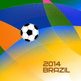Brazil Soccer Poster.  Summer 2014. Royalty Free Stock Photography