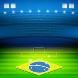 Brazil soccer stadium background Stock Photos