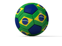 Brazil soccer world championship. 2014 over white background Royalty Free Stock Image