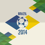 Brazil soccer world cup 2014 background. Brazil soccer world cup 2014. Abstract geometric background Stock Image