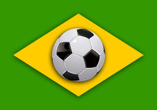 Brazil soccer world cup flag Royalty Free Stock Images