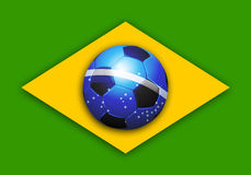 Brazil soccer world cup flag Stock Images