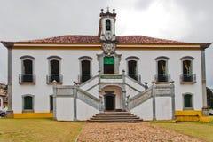 brazil som bygger det historiska mariana fängelset Arkivfoton