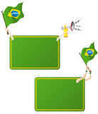 Brazil Sport Message Frame with Flag. Vector - Brazil Sport Message Frame with Flag. Set of Two Royalty Free Stock Photography