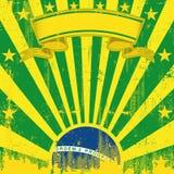 Brazil square vintage sunbeams Stock Image
