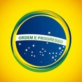 brazil stamp design Royalty Free Stock Photo