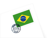 Brazil stamp illustration Royalty Free Stock Photos
