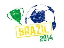 Brazil 2014 stamp Royalty Free Stock Photography