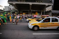 Brazil street protest March 2016 São Paulo Royalty Free Stock Image