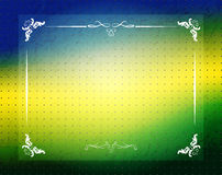 Brazil Summer 2014, background for Football Design. Brazilian Flag Colors Stock Photo