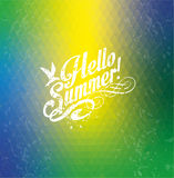 Brazil summer background. Hello summer!Brazil summer background Royalty Free Stock Photo