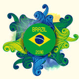 Brazil Summer 2016 With Colorfull Waves. Background Royalty Free Stock Photos