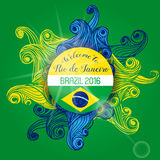 Brazil Summer 2016 With Colorfull Waves Royalty Free Stock Photos