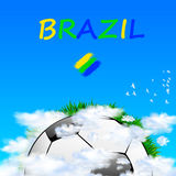 Brazil 2014  Summer Football Background. Brazil 2014 Summer Football Background, easy all editable Royalty Free Stock Images