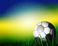Brazil Summer 2014. Soccer Ball on background for Football Design Stock Photos