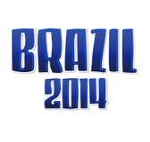 Brazil Summer 2014 - vector lettering Stock Images