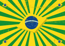 Brazil sunbeams horizontal background. A vintage brazilian poster with sunbeams for you Royalty Free Stock Photo