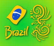 Brazil symbol Royalty Free Stock Photos
