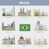 Brazil. Symbols of cities Royalty Free Stock Photography