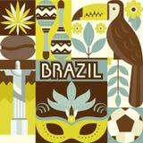 Brazil Symbols Royalty Free Stock Photography