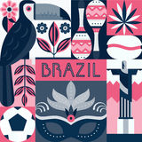 Brazil Symbols Royalty Free Stock Photo