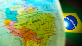 Brazil Olympic Map Globe Background royalty free stock photo
