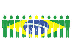 Brazil team Royalty Free Stock Photo