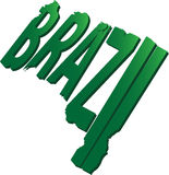 Brazil Text Map Flat Stock Photography