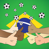 Brazil thumb up Royalty Free Stock Photos