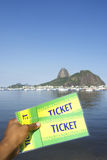 Brazil Tickets at Botafogo Sugarloaf Rio de Janeiro Stock Photos