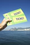 Brazil Tickets at Botafogo Sugarloaf Rio de Janeiro Stock Image