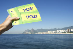Brazil Tickets at Botafogo Sugarloaf Rio de Janeiro Royalty Free Stock Photos