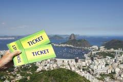 Brazil Tickets Rio de Janeiro Skyline Stock Images