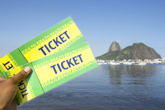 Brazil Tickets at Sugarloaf Rio de Janeiro Royalty Free Stock Images