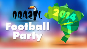 Brazil 2014 with toucan  vector illustration Royalty Free Stock Images