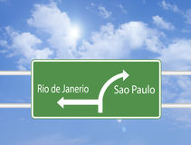 Brazil traffic sign Royalty Free Stock Photo