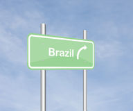 Brazil traffic sign Royalty Free Stock Photos