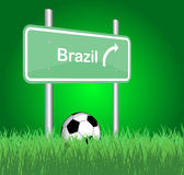 Brazil traffic sign Stock Photos