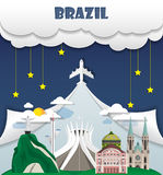 Brazil travel background Landmark Global Travel And Journey Info. Graphic Vector Design Template. illustration Royalty Free Stock Photography