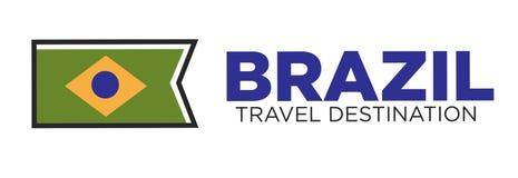 Brazil travel destination emblem Stock Photos