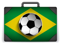 Brazil Travel Luggage with Flag for Vacation Stock Photography